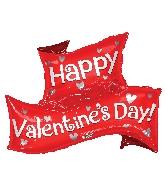 """36"""" Happy Valentine's Day Banner Shape Balloon"""
