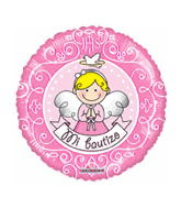 "18"" Mi Bautizo Angel Pink Foil Balloon"
