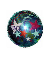 "18"" Congragulations Stars Mylar Balloon"