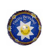 """18"""" Birthday Smiley Stars Balloon"""