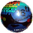 "18"" Happy Birthday 16th Birthday Blue"