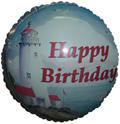"""18"""" Happy Birthday Lighthouse Balloon"""
