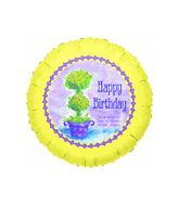 """9""""  Airfill Only Birthday Joshua 24:15 Religious Balloon"""