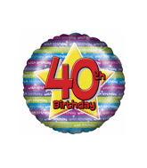 "18"" Age 40th Birthday Balloons"