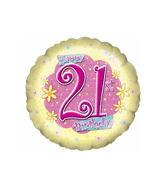 "18"" 21st Birthday Flower Power"