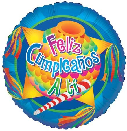 "18"" Feliz Cumpleanos A Ti Pinata"