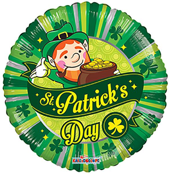"""18"""" St. Patrick's Day Scene Balloon"""