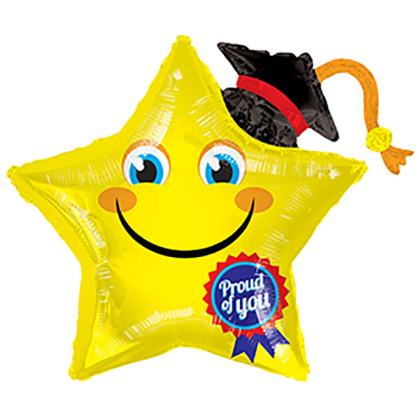 """36"""" Smiley Star Proud of You Shape Balloon"""