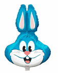 "28"" Jumbo Balloon Light Blue Rabbit Shape"
