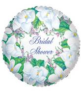 """9"""" Airfill Only Magnolia Bridal Shower Balloon"""
