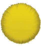 """18"""" Solid Gold (Round) Brand Convergram Balloon"""