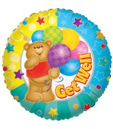 "9"" Airfill Get Well Bear Balloon"
