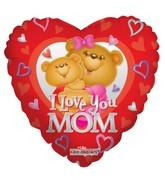"""18"""" I Love Mom Happy Bears Balloon"""