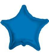 "4"" Star Blue Royal Brand Convergram Balloon"