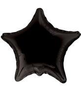"4"" Star Black Brand Convergram Balloon"