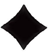 "21"" Solid Diamond Black Brand Convergram Balloon"