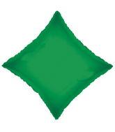 "21"" Solid Diamond Emerald Green Brand Convergram Balloon"