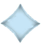 "21"" Solid Diamond Light Blue Brand Convergram Balloon"