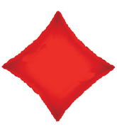 "21"" Solid Diamond Red Brand Convergram Balloon"