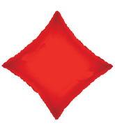 "21"" Solid Diamond Red Brand Convergram Balloon"