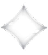 "21"" Solid Diamond White Brand Convergram Balloon"