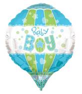 "28"" Baby Boy Aerostatic 3D Balloon"