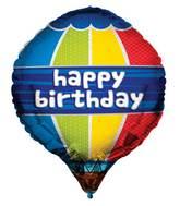 """24"""" Happy Birthday Hot Air Balloon Balloon"""