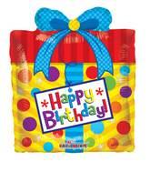 "14"" Airfill Only Birthday Present Mini Shape Balloon"