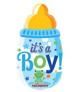 "14"" Airfill Only Baby Bottle Boy Mini Shape Balloon"