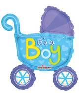 "14"" Airfill Only Baby Stroller Boy Mini Shape Balloon"