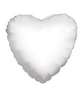 "4"" Heart White Brand Convergram Balloon"
