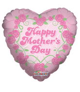 """18"""" Mother's Day Pink Flowers Balloon"""
