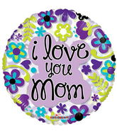 """18"""" Mom Flowers Clear View"""