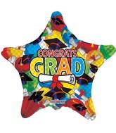 """9"""" Airfill Congrats Grad Balloons Diploma And Caps"""