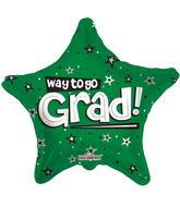 """18"""" Way To Go Grad Stars Green"""