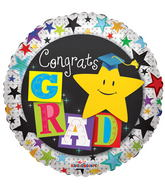 "18"" Congrats Grad Yellow Star"