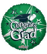 """18"""" Congrats Grad Stars Green"""