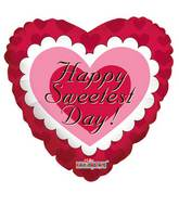 """9"""" Airfill Only Sweetest Day Pink Heart Balloon"""