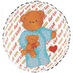 "18"" Get Well Bear Balloon"