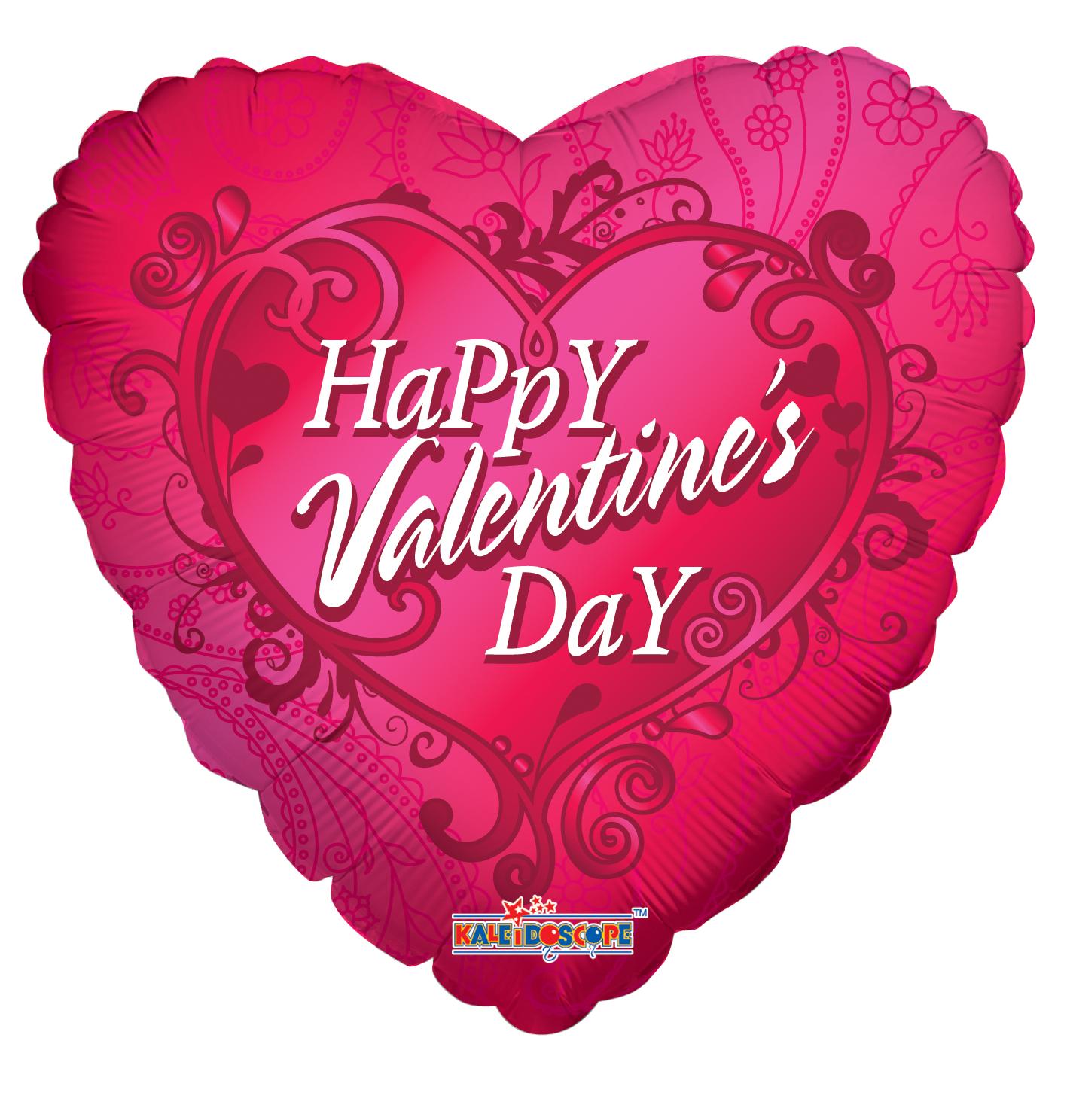 """18"""" Happy Valentine's Day Paisley"""