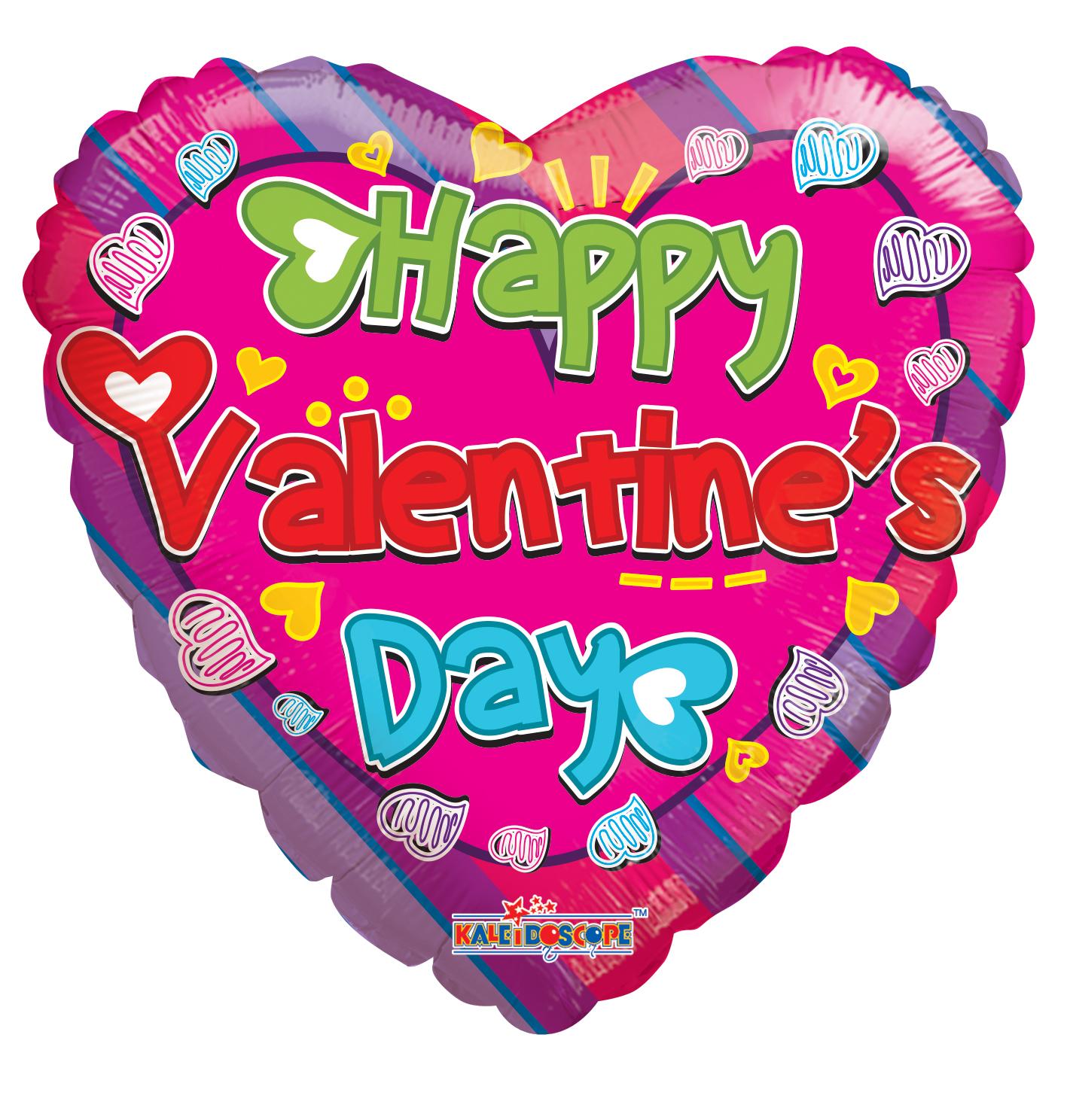 "18"" Happy Valentine's Day Colorful"