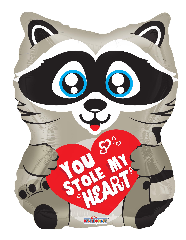 "18"" Love Raccoon Shape Foil Balloon"