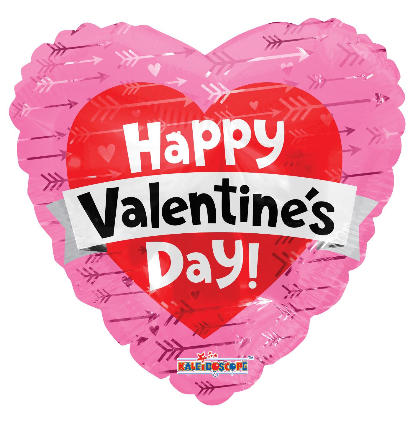 """18"""" Valentine's Heart With Banner Foil Balloon"""