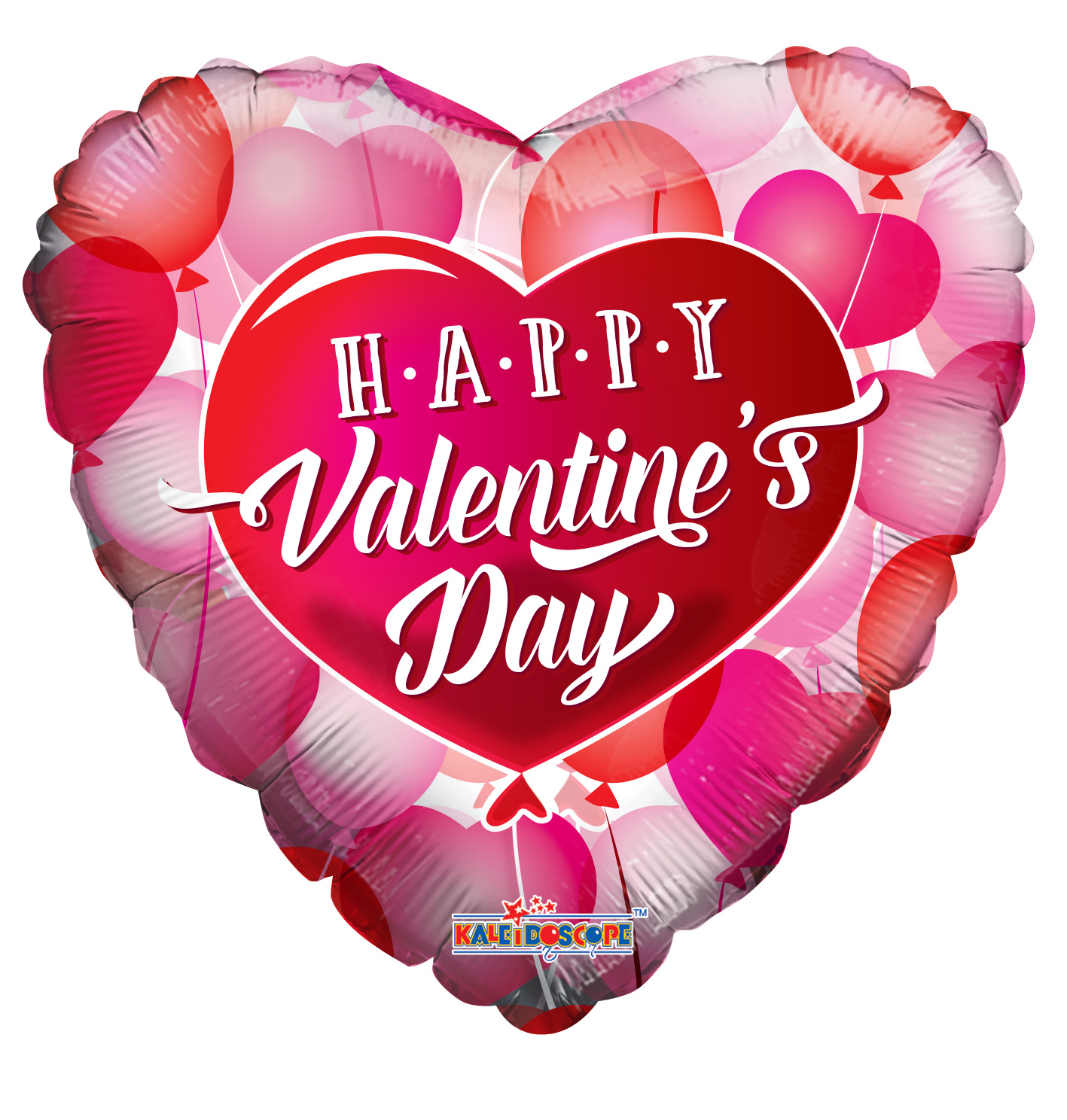 """18"""" Happy Valentine's Day Floating Hearts Foil Balloon"""