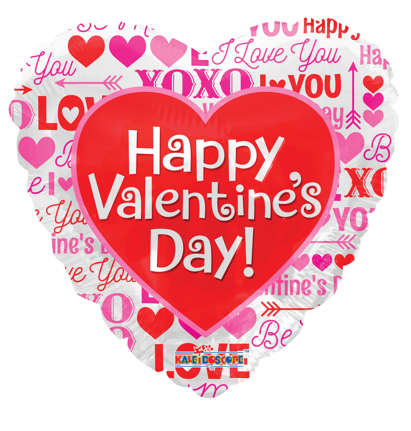 """18"""" Happy Valentine's Day Love Messages Non Foil Balloon"""