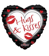 "4"" Hugs & Kisses Black"