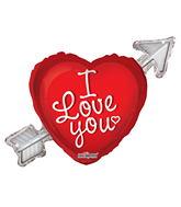 "36"" I Love You Balloon Heart With Arrow"