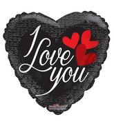 "18"" I Love You Black"