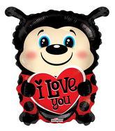 """18"""" I Love You Lady Bug Shape"""