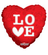 "9"" Airfill Love L-O-Heart-E Balloon"